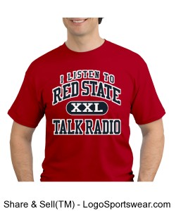 RED STATE TALK RADIO - SHORT SLEEVE T-SHIRT Design Zoom